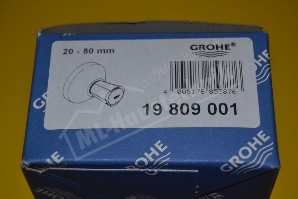 grohe 19809001 farbset costa neu f r up ventil 20 80mm mit metallgriff warm. Black Bedroom Furniture Sets. Home Design Ideas